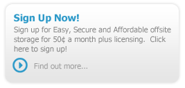 Sign up now for a GotData™ online backup plan